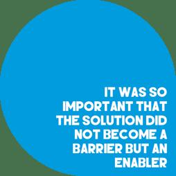 Enabler not barrier